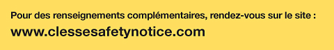 Recall website and further information view the dedicated website:  www.clessesafetynotice.com